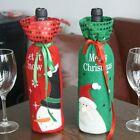 Christmas Red Wine Bottle Cover Bags Snowman/Santa Claus Xmas Decoration Sequins