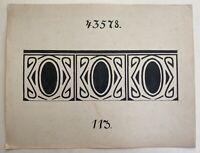 Jugendstil Entwurf Skizze Studie 113 Art-Nouveau Fliesen Bordüre? Dekoration