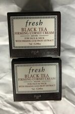 2 fresh Black Tea Firming Corset Creams Travel Size 0.24 oz. Each New in Box