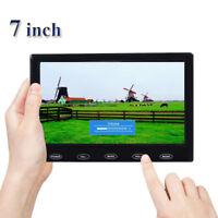 "Mini 7"" LCD CCTV Monitor HD PC Screen AV/RCA/VGA/HDMI 1080p Video w/ Speaker"