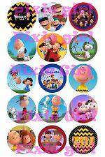 """15 Precut Peanuts Charlie Brown 1"""" Bottle Cap Images Bonus Free Digital Download"""