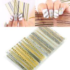 24 Sheets 3D Nail Art Transfer Stickers Nail Tips Decal Polish DIY Decorations