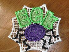 Embroidered - Halloween - EEK & Spider - White Backround