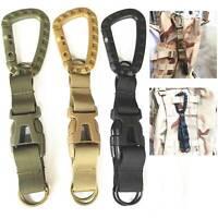 2PCS Tactical Carabiner Backpack Belt Webbing Hook Buckle Hanging System Molle