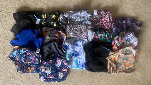 Women's Scrub Top Lot of 16 - Mostly Size Large (Three Are XL)