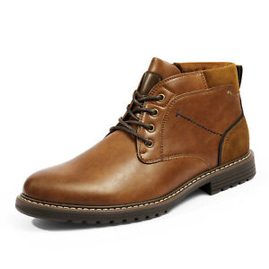 Men's Plain Toe Chukka Boots Casual Lace up Tear-Resistant Durable TPR Boots