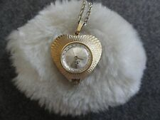 Jewels Burgana Necklace Pendant Watch Wind Up Swiss Made 17