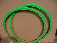 PNEUMATICI 700x28c (28-622) COPPIA COLORATE RACING FIXIE BICI CICLO VERDE
