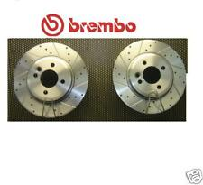 MINI ONE DIESEL COOPER S BRAKE DISC BREMBO DRILLED GROOVED FRONT PAIR