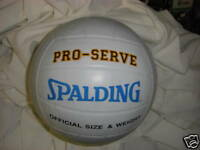 SPALDING WHITE PROSERVE RUBBER  VOLLEYBALL
