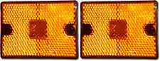 "TWO-2 LED Amber Marker Clearance Light Reflective 2x2 3/4""  square stud trailer"