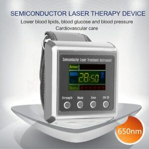Utility TV 650nm laser therapy Wrist Laser Watch for diabetes hypertension