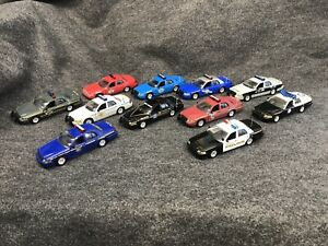 1/43 road champs police cars Lot Of 11
