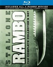Rambo 1+2+3+4 Collector's Boxset Complete Collection Blu-ray Boxed Set New