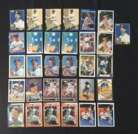 Robin Yount Baseball Card Lot of 31 Milwaukee Brewers HOF Topps Donruss Bowman