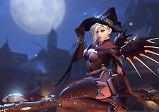 Witch Mercy Overwatch Large Poster Art Print - A0 A1 A2 A3 A4
