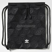 adidas Originals Bucket Black White 3D Mesh Women Gym Sack Backpack AY9352