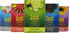 10 X SOEX FLAVOUR HERBAL SHISHA SMOKING PIPE HOOKAH HOOKA HUKKA SHEESHA NARGILA