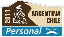 Rally de vinilo en las Motorsport Rally Dakar Argentina Chile 2011 Pegatinas de personal