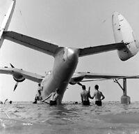 WW2 Photo WWII Launching a Navy PBM Mariner at  Norfolk 1941 World War Two /7130