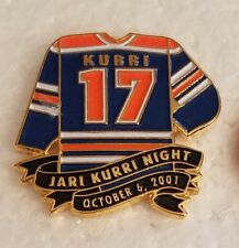 NHL EDMONTON OILERS JARI KURRI NIGHT OCTOBER 6, 2001 #17 Lapel Pin