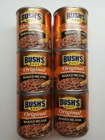 Bushs Best Original Baked Beans 6 - 8.3 oz Cans Bacon Brown Sugar 97% Fat Free