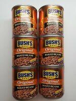 Bushs Best Original Baked Beans 6 - 8.3 oz Cans Bacon Brown Sugar 97% Fat Free