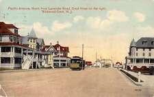 Wildwood Crest New Jersey Pacific Ave Street Scene Antique Postcard K60393