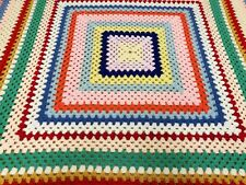 Vintage Style Granny Blanket / Throw. Hand Crochet Super for Winter Months!