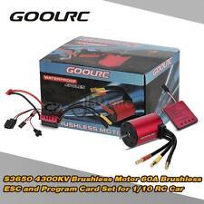 S3650 4300KV Brushless Motor 60A ESC and Program Card for 1/10 RC Car J3G0