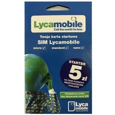 Lycamobile POLAND Polish SIM card HUGE DATA PACKAGES, FREE ROAMING EU