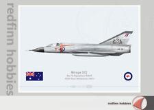Warhead Illustrated Mirage IIIO 75Sqn RAAF Williamtown A3-33 Aircraft Print