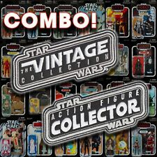 """Kenner STAR WARS """"Vintage Collection"""" & """"ACTION FIGURE COLLECTOR"""" 5 inch patches"""