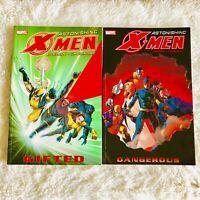 Marvel Astonishing X-Men Vol 1 Gifted & Vol 2 Dangerous TPB Joss Whedon Cassaday