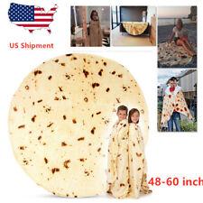 Tortilla Burrito Blanket Round Corn and Flour Towel Fleece Pancake Baby Adult