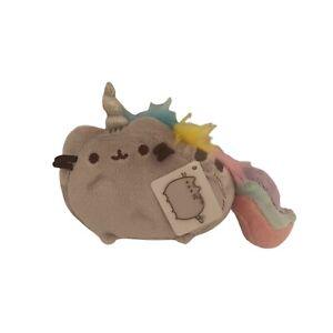 """Gund Pusheen Pusheenicorn Unicorn Cat Plush 6"""" Gray With Rainbow Colors NWT"""