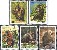 Benín 638-642 (edición completa) usado 1995 monos