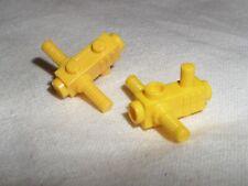 2 x Lego 2516 Motor Halter Kettensäge Space gelb 4215263