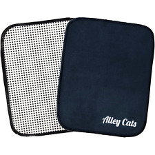Alley Cats Bowling Ball Shammy   Black Microfiber w/ EZ Grip   Towel Pad Cleaner