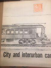 Brill, City and Interurban Cars, catalogue reprint