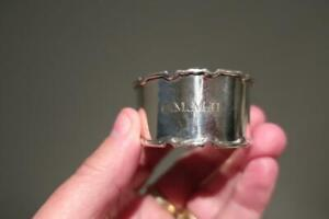 Lovely Vintage Sterling Silver Napkin Ring - Hallmarked - Collectable - 24g  Rc