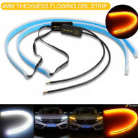 45CM LED DRL Daytime Running Lamp Strip Light Sequential Flowing Turn Signal New