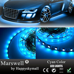 5M Ice Blue LED Strip Light Non-waterproof SMD5050 300led 470-480nm Wave Length