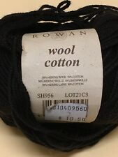 4 Balls Black Rowan Wool Cotton Yarn - 50 grams Each - Same Lot