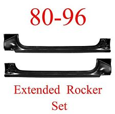 80 96 Ford Extended Rocker Panel SET Truck & Bronco F150, F250, F350, OEM Type