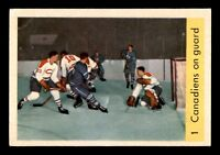 CANADIENS ON GUARD 59-60 PARKHURST 1959-60 NO 1 VGEX+  17784