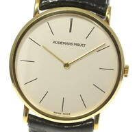 AUDEMARS PIGUET 18K Yellow Gold cal.2080 Silver Dial Quartz Men's Watch_543362