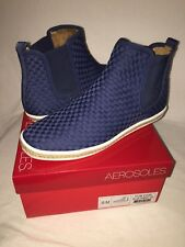 Aerosoles NEW! Fun Fair Blue Fabric Weaved Ankle Fashion Sneakers Women's 8.5M