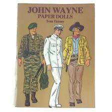Vintage 1981 Tom Tierney John Wayne Uncut Male Man Paper Dolls Cowboy Western