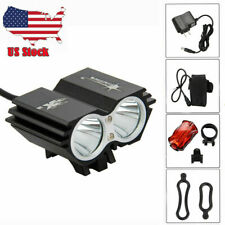 SolarStorm 8000Lm 2xT6 Cycling LED Front Bicycle Bike Light Lamp Set Accessories